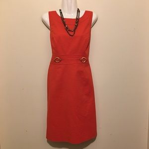 Tahari Women's Sleeveless Orange Dress